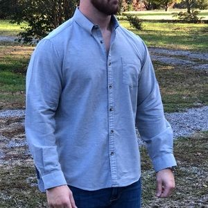 G.H. Bass & Co, Button Down, Gray, Size XL